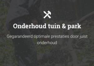 Tuin en park onderhoud